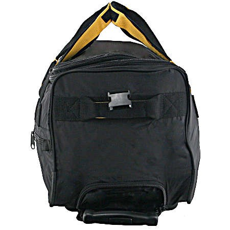 A.saks On The Go 20 Inch Expandable Wheeled Duffel Bag - Black/yellow