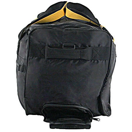 A.saks On The Go 25in. Expandable Trolley Rolling Duffle - Black/yellow