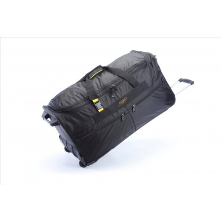 A.saks On The Go 31 Inch Expandable Wheeled Duffel Bag - Black/yellow
