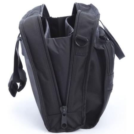 A.saks On The Go Ballistic Nylon Organizer Briefcase - Black