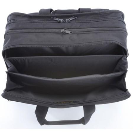 A.saks On The Go Ballistic Nylon Expandable Briefcase - Black