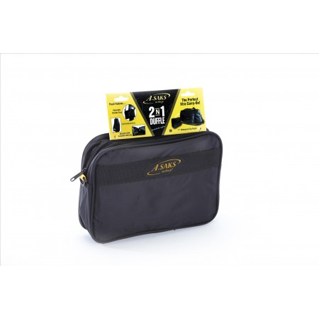 A.saks On The Go Folding 2 In 1 22in. Duffle And Toiletry Kit - Black/yellow