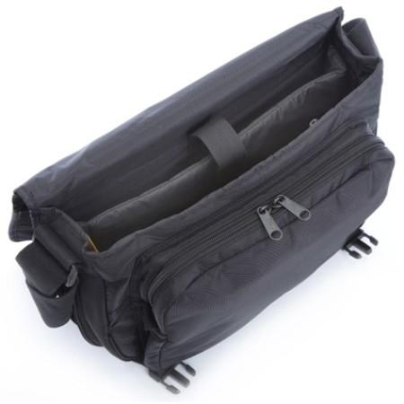 A.saks On The Go Expandable Messenger Bag - Black