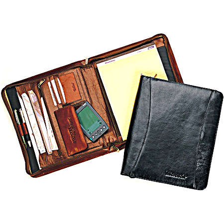 Goodhope Business Briefcase Collection Zip Pad/organizer - Black