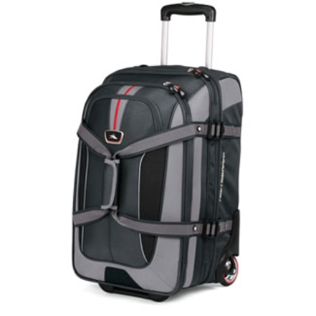 High Sierra At6 Carry-on Expandable Drop-bottom Expandable Wheeled Duffel - Black