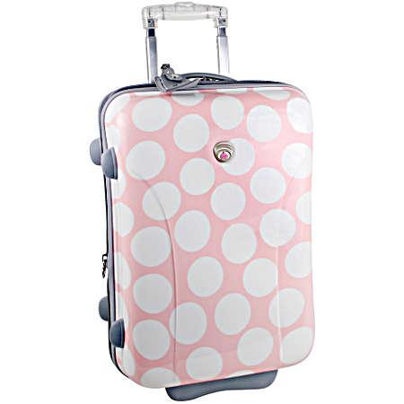 International Traveller Ultra-lightweight 21in. Wheeled Suitcase - Black W/white Dots