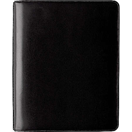 Johnston And Murphy Fine Leather Goods Letter Folio - Black Waxhide