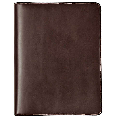 Johnston And Murphy Fine Leather Goods Zip Letter Folio - Mahogany