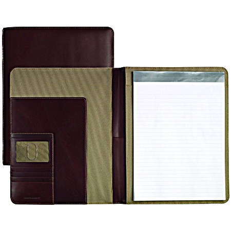 Johnston And Murphy Leather Travel Collection Letter Folio - Mahogany