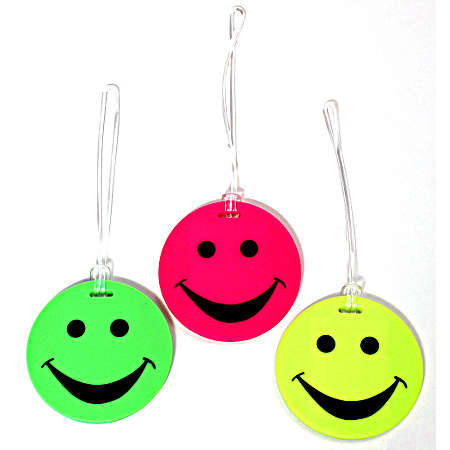 Lewis N. Clark Travel Products Smiley Luggage Tag - Yellow