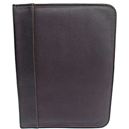 Piel Leather  Goods     Three-ring Binder - Saddle