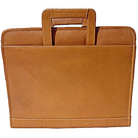 Piel Leather  Goods     3-ring Binder W/handle - Saddle