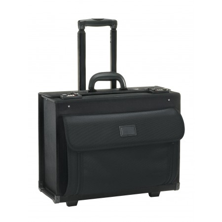 Solo Business Briefcases Ballistic Nylon Rolling Computer Catalog Case - Black
