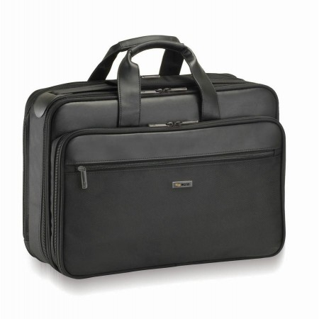 Solo Business Briefcases Ballistic  Nylon Smart Strap Computer Portfolio - Black