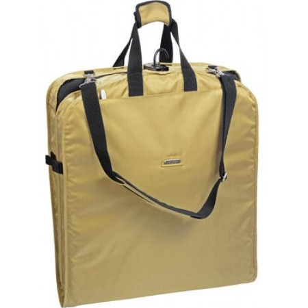 Wally Bags 42in. Garment Bag With Shoulder Strap & 2 Pockets - Khaki