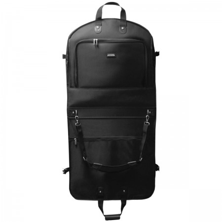 Wally Bags Wally Bags 45in. Mid Length Bi-fold With Pockets - Black