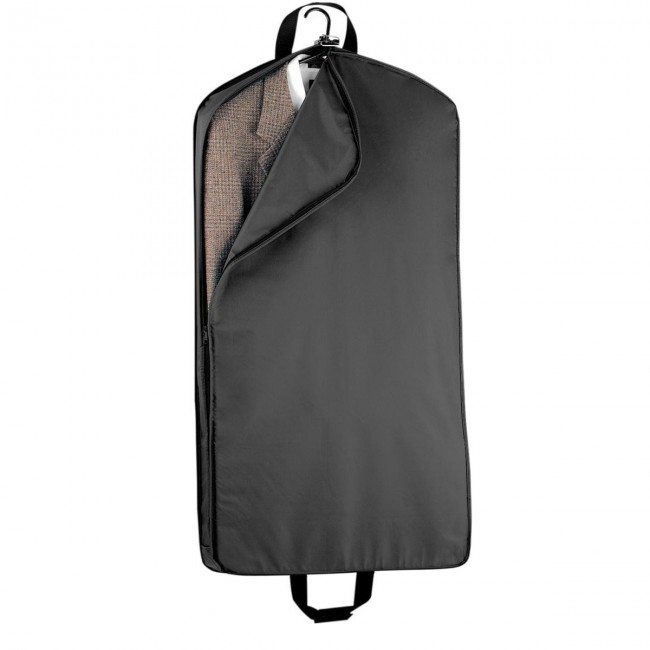 Wally Bags Wally Bags 42in. Suit Length With One Pocket - Black